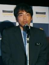 『渋谷シアターTSUTAYA』オープンを発表する同社社長