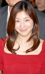 映画『おくりびと』の完成会見に出席した広末涼子