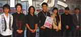 会見に登場した佐野和真、金井勇太、山田孝之、松田翔太、成海璃子、滝本智行監督、原作者・間瀬元朗(左から)