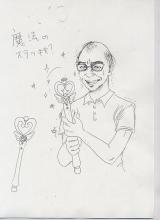 しょこたん直筆のキャラクターデッサン画