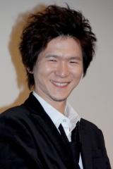 映画『イキガミ』の公開初日舞台挨拶に登壇した金井勇太