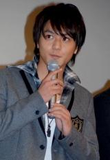 映画『イキガミ』の公開初日舞台挨拶に登壇した佐野和真