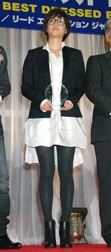「第21回 日本メガネベストドレッサー賞」を受賞した上野樹里