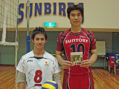 中孝介(左)と荻野正二選手