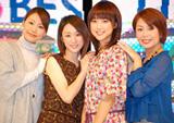 テレビ朝日系『ミュージックステーション』の歴代サブMCの(左から)下平さやか、堂真理子、竹内由恵、武内絵美アナウンサー