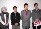 (左から)野上照代、熊切和嘉、園子温、濱口竜介監督