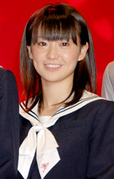 映画『櫻の園』舞台挨拶に出席した大島優子