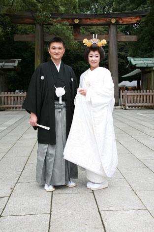 明治神宮で行われた結婚式の模様