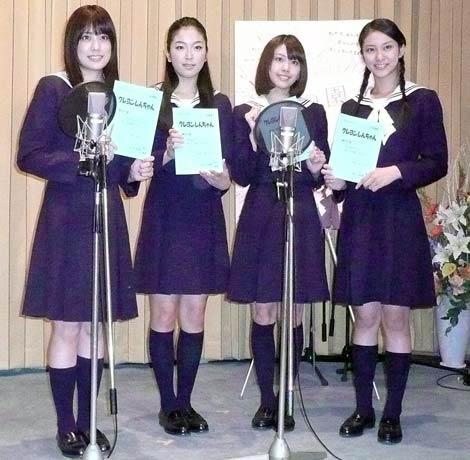(左から)福田沙紀、寺島咲、しんのすけ子、はねゆり、武井咲