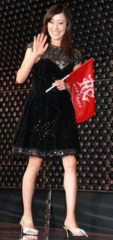 映画『レッドクリフ Part I』の公開前夜祭に出席した菅野美穂