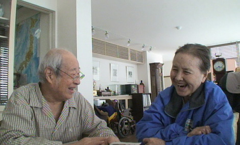 愛妻・南田洋子を献身的に看病する夫・長門裕之