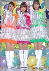 アイドル宣言したテレ朝新人アナ3人娘(左から本間智恵アナ、竹内由恵アナ、八木麻紗子アナ)