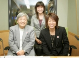 左より田原総一郎、文化放送・永野景子記者、田村淳