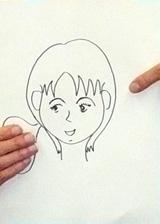 K太郎の妻・美佳さんの似顔絵