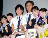 左から寺島しのぶ、綾瀬はるか、田辺誠一、時任三郎、吹石一恵、田畑智子