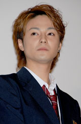 「赤い糸」記者会見及び映画完成披露試写に出席した木村了