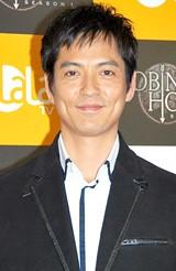 ドラマシリーズ『ロビン・フッド』日本上陸記念プレミアパーティに出席した沢村一樹