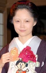 49歳の篤姫を演じきり笑顔