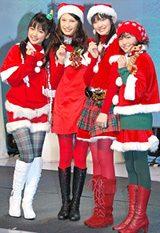 「Pocky 4Sisters!」放送直前イベントに登場した(左から)真野恵里菜、大政絢、岡本杏理、金井美樹