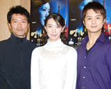 ミュージカル「マルグリット」に出演する(左から)寺脇康文、春野寿美礼、田代万里生