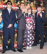イベントに出席した(左から)デンジャラス・安田和博とノッチ、南明奈、HEY!たくちゃん