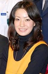 「キイナ -不可能犯罪捜査官- 」制作発表に出席した菅野美穂