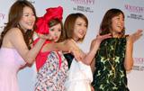 映画『セックス・アンド・ザ・シティ』DVD発売記念イベントに出席した(左から)青田典子、千秋、西川史子、RIKACO=映画『セックス・アンド・ザ・シティ』DVD発売記念イベント