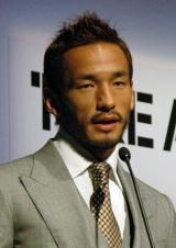 一般財団法人「TAKE ACTION FOUNDATION」の概要を発表する中田英寿氏