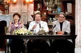 (左より)秘書の岡部まり、局長の西田敏行、顧問での登板が多いキダ・タロー