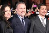 (左から)アンジェリーナ・ジョリー、デビッド・フィンチャー監督、ブラッド・ピット