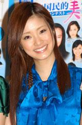 「第12回全日本国民的美少女コンテスト」概要説明記者会見に出席した上戸彩
