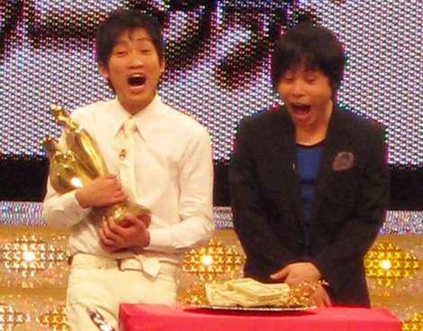 『M-1グランプリ2008』優勝賞金1000万円を前に大興奮のNON STYLE