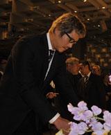 緒形拳さんを偲ぶ会に出席した豊川悦司