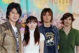 左から川崎麻世、笹本玲奈、浦井健治、西島千博