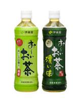 20年間で累計販売本数150億本を達成した『お〜いお茶』(左)と、2004年に発売されたシリーズ商品『お〜いお茶 濃い味』(右)