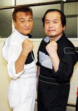 長寿ラジオ番組『誠のサイキック青年団』のパーソナリティを務めた(左より)北野誠、竹内義和