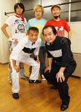 イベント終了後、撮影に応じた北野、竹内と「サイキッカー」(番組リスナー)だったガガガDX(後列)