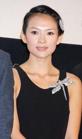 映画「花の生涯〜梅蘭芳〜」凱旋プレミア上映会で舞台あいさつを行ったチャン・ツィイー