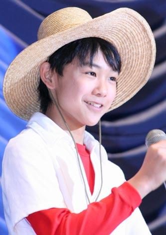 『釣りキチ三平』の完成披露試写会に出席した須賀健太