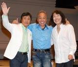 「ALICE LIVE ALIVE 2009〜I'm home〜」プレス発表会に出席したアリス(左から)堀内孝雄、谷村新司、矢沢透