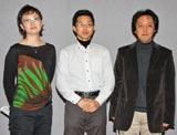 初めてドラマの演出を手がけた(左から)阿由葉聡子さん、牧野雅光さん、小山和行さん