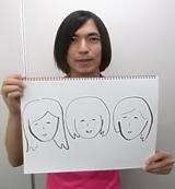ふかわりょうの手書きによる似顔絵
