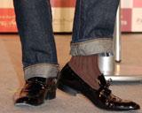 20年ぶりに履いたカカオ色の靴下