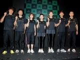 (左から)白戸太朗、安喰太郎、大島めぐみ、市橋有里、SHIHO、清水圭、中野ジェームス