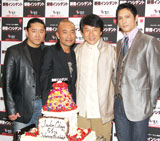 (左から)拳也、竹中直人、ジャッキー・チェン、加藤雅也