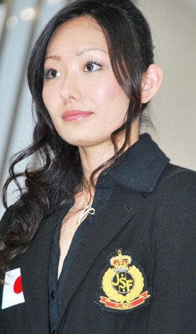 テレビ朝日『世界フィギュアスケート国別対抗戦2009』の記者会見に出席した安藤美姫