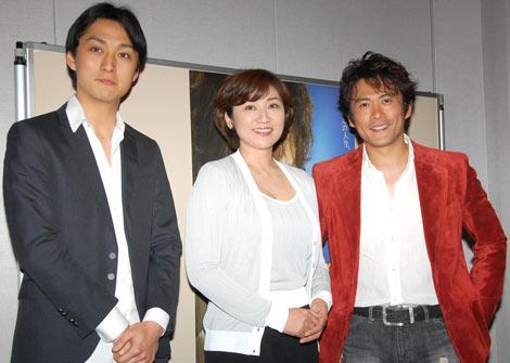 新ドラマ『臨場』の記者会見に出席した(左から)渡辺大、松下由樹、内野聖陽
