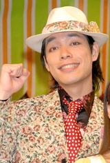 NHK連続テレビ小説『つばさ』の会見に出席した麒麟・川島明