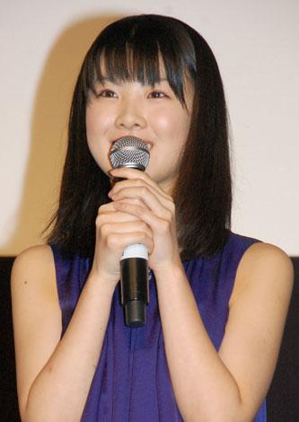 映画『GOEMON』の完成披露試写会に出席した福田麻由子