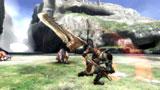 【ゲーム画面】大剣によるハンターアクション(C)CAPCOM CO., LTD. 2009 ALL RIGHTS RESERVED.